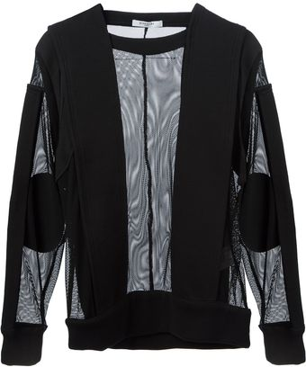 Givenchy Paneled Sheer Sweater - Lyst