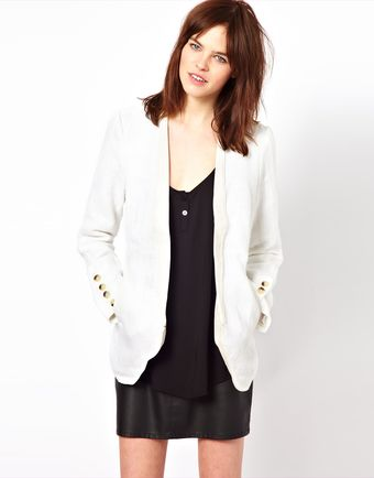 Improvd Porter Blazer with Leather Lapel - Lyst