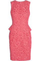 Jason Wu Lace Peplum Dress - Lyst