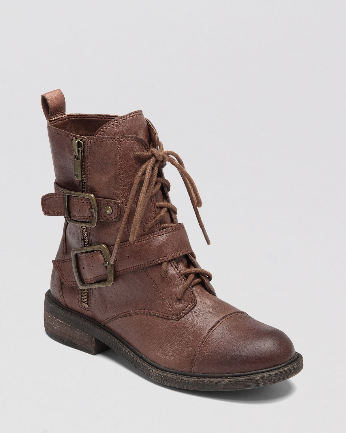Lucky brand Combat Boots Nolan in Brown | Lyst