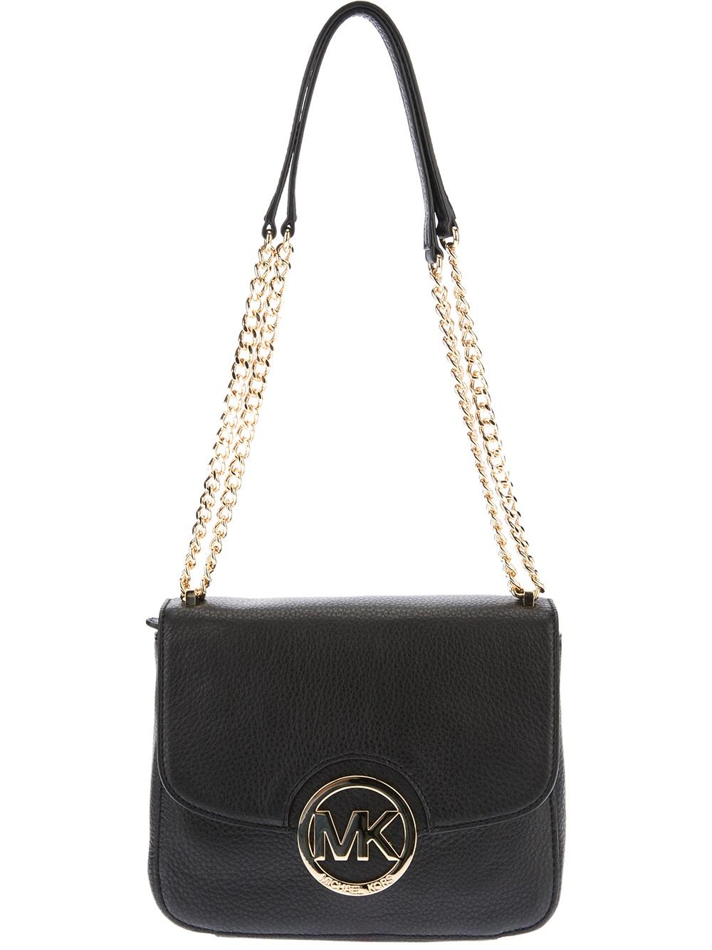 Lyst Michael Kors Chain Detail Shoulder Bag In Black