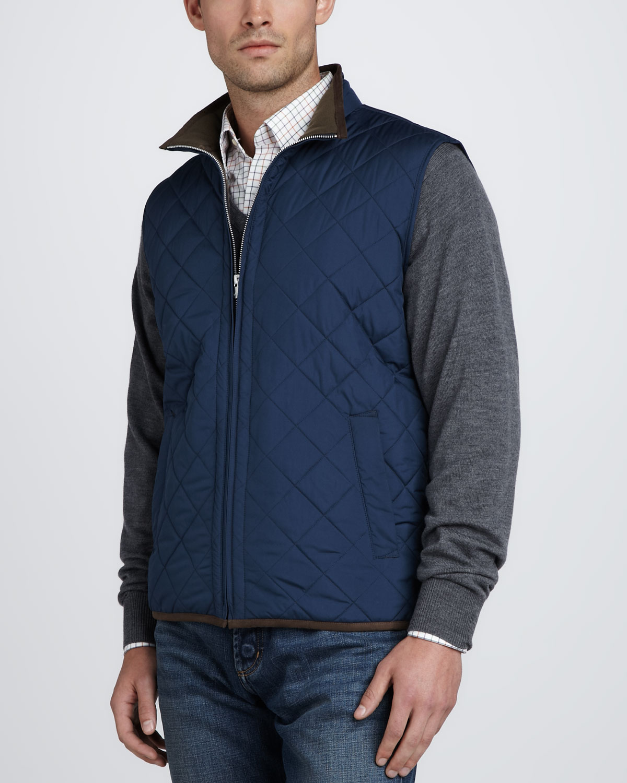 Peter millar Potomac Quilted Lightweight Vest in Blue for Men | Lyst : peter millar quilted vest - Adamdwight.com