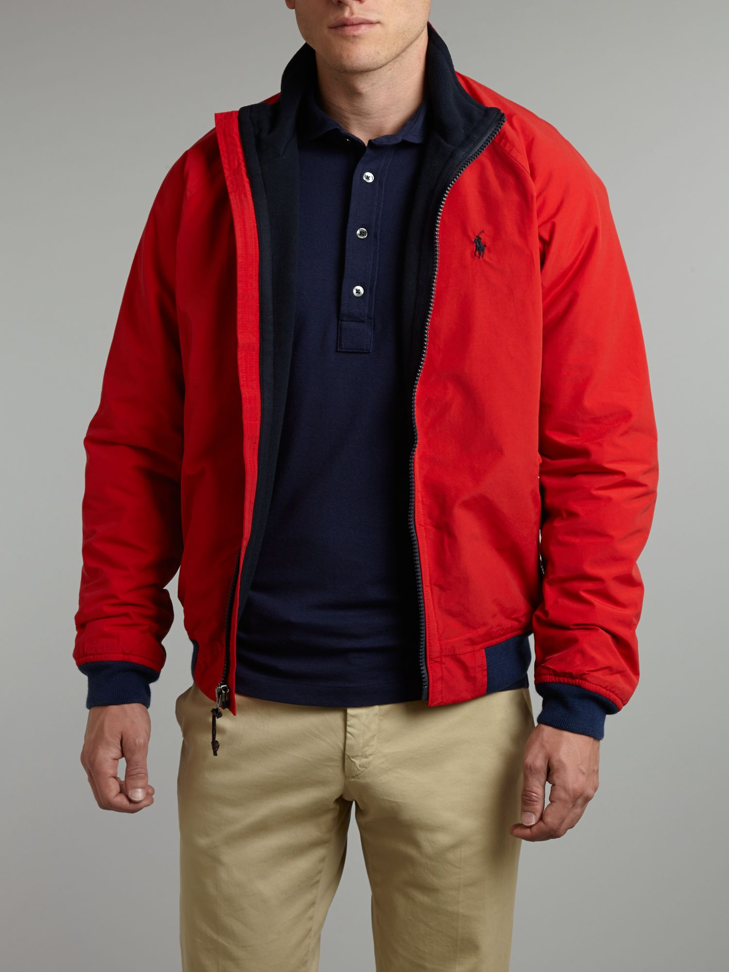 Polo Ralph Lauren Portage Bomber Jacket In Red For Men Lyst