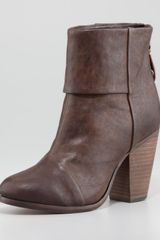 Rag & Bone Classic Newbury Leather Bootie Deep Brown - Lyst