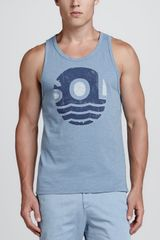 Sol Angeles Sol Wave Printed Tank - Lyst
