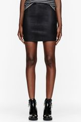T By Alexander Wang Black Leather Stretch Pencil Skirt - Lyst