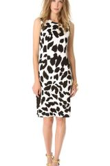 Versace Sleeveless Printed Dress - Lyst