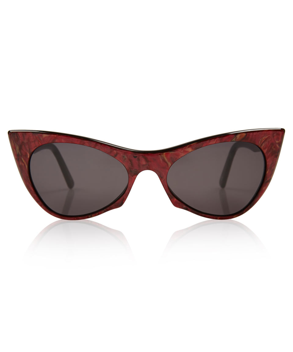 Cat-eye Acetate Sunglasses - Red Andy Wolf zfwW7Vos