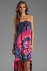Blu Moon Open Back Tube Dress in Pink - Lyst