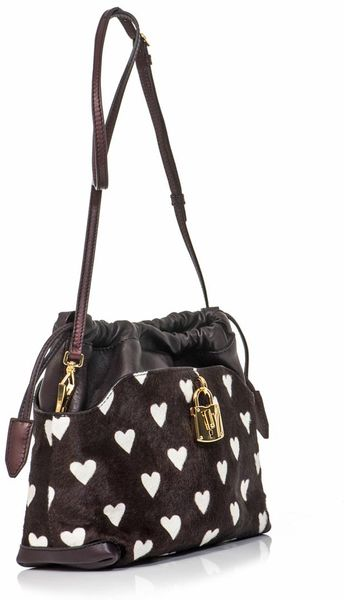 Burberry Prorsum Little Crush Heart Calf Hair Bag in Brown ...