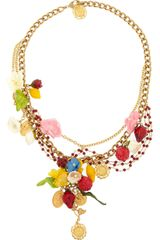 Dolce & Gabbana Estate Goldplated Garnet Necklace - Lyst