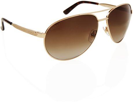 Gucci Gold Sunglasses Men Brown For Men Gold Gucci