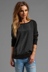 Joie Polka Dot Melana B Top in Black - Lyst