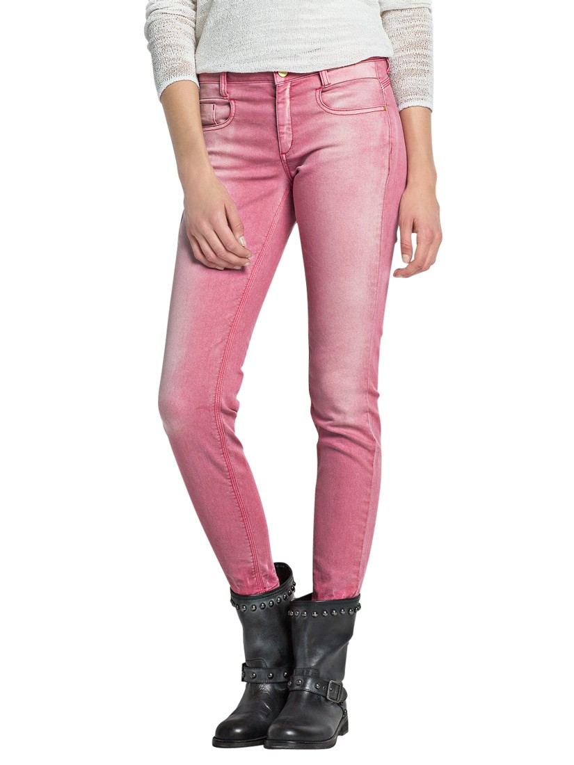 Mango Distressed Jeans in Pink | Lyst