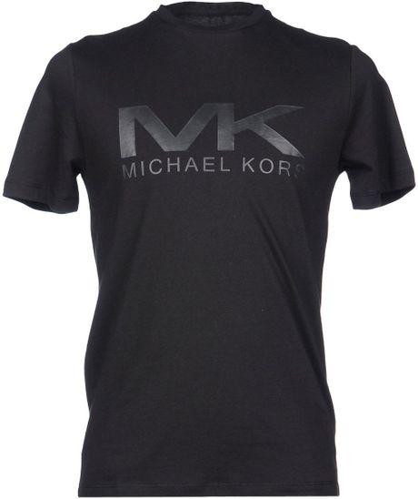 michael kors tshirt in black for men lyst. Black Bedroom Furniture Sets. Home Design Ideas