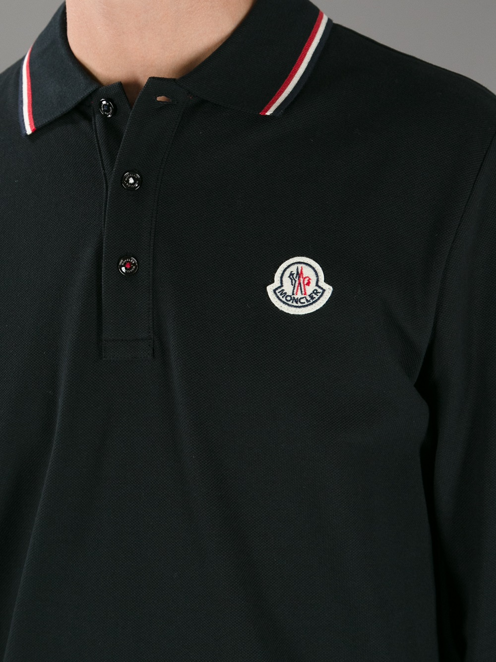 moncler dark grey polo