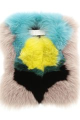 Peter Pilotto Multicoloured Fur Collar - Lyst