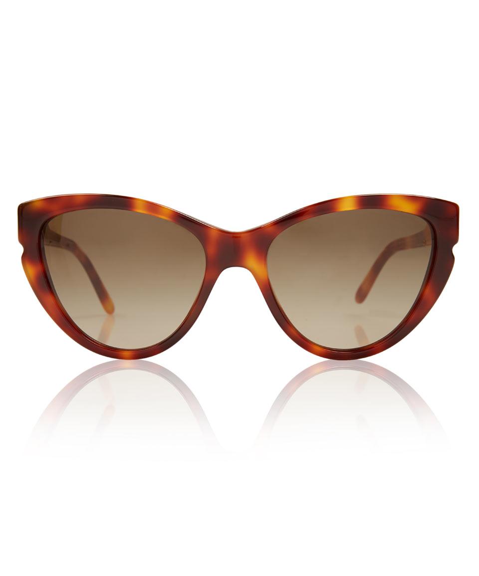 1a14b79f76 Lyst - Stella McCartney Tortoiseshell Oversized Cat Eye Sunglasses ...