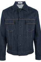 Valentino Raw Denim Jacket - Lyst