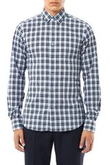 Valentino Check Cotton Shirt - Lyst