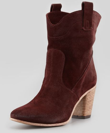 alberto fermani chiara slouchy suede ankle boot in brown