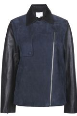 Alexander Wang Raw Edge Bicolor Jacket - Lyst