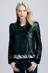 Alice + Olivia Alice Olivia Astor Leather Biker Jacket - Lyst