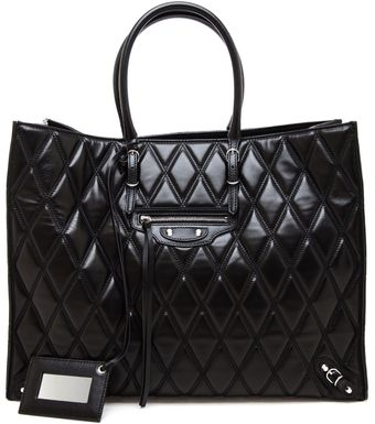 Balenciaga Papier Quilted Leather Tote Bag - Lyst