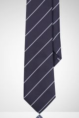 Black Label Striped Peau De Soie Tie - Lyst