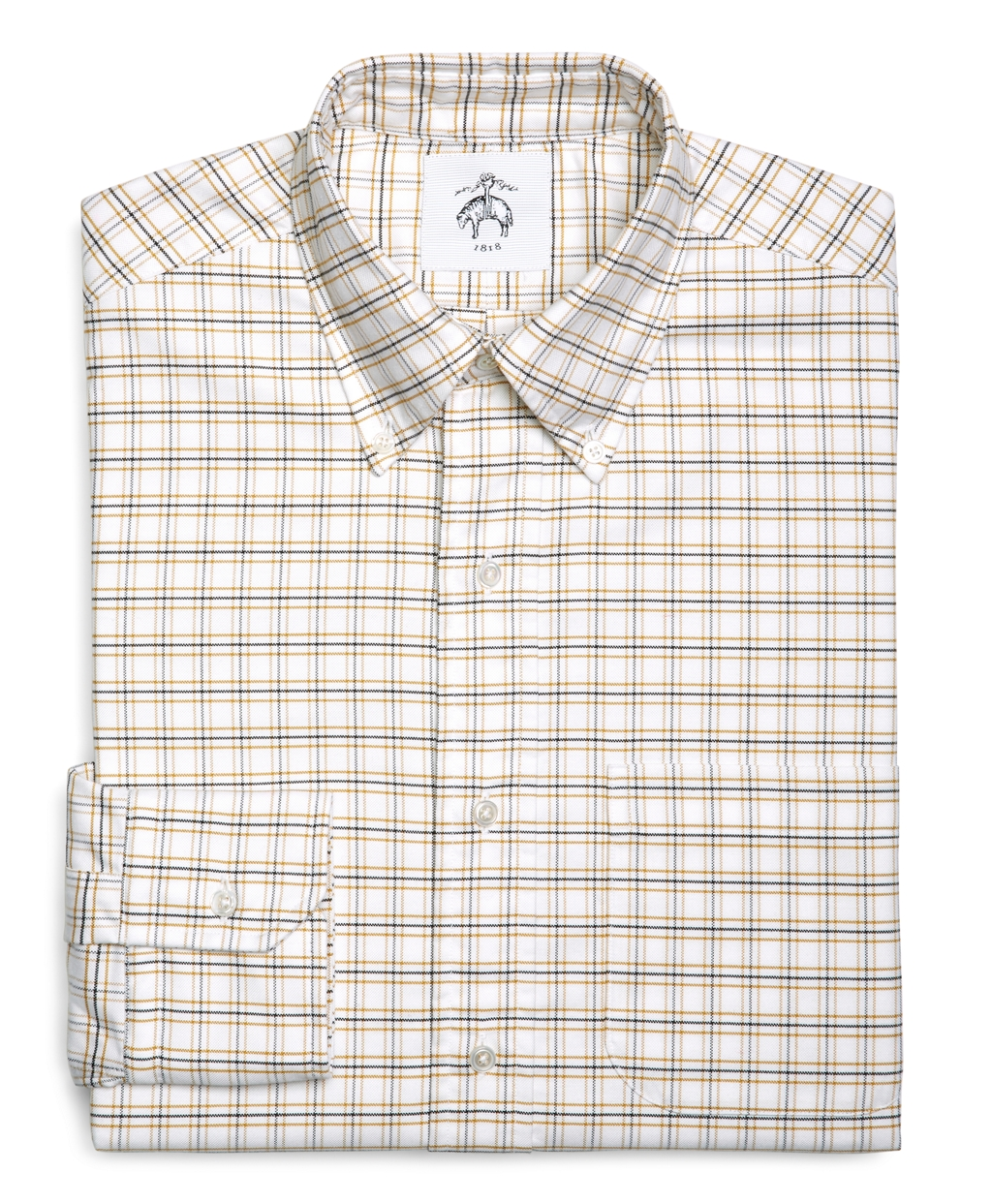 lyst brooks brothers tattersall oxford button down shirt