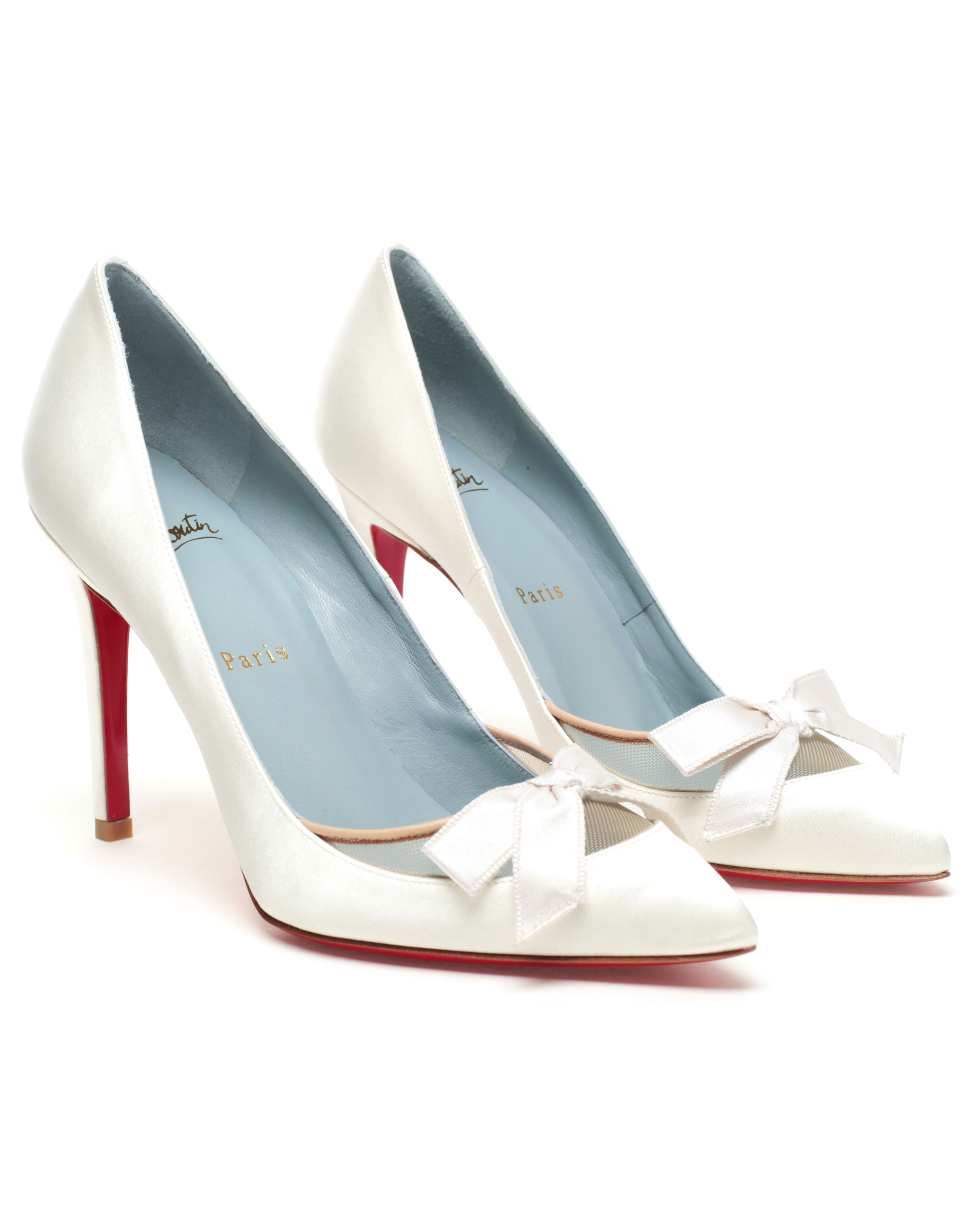 beb5399ac711 Christian Louboutin Love Me Bridal Shoes in White - Lyst