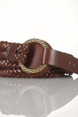 Lauren by Ralph Lauren Braided Leather Tristrap Belt - Lyst