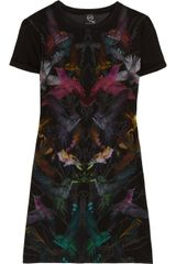 McQ by Alexander McQueen Hummingbirdprint Cottonjersey Dress - Lyst