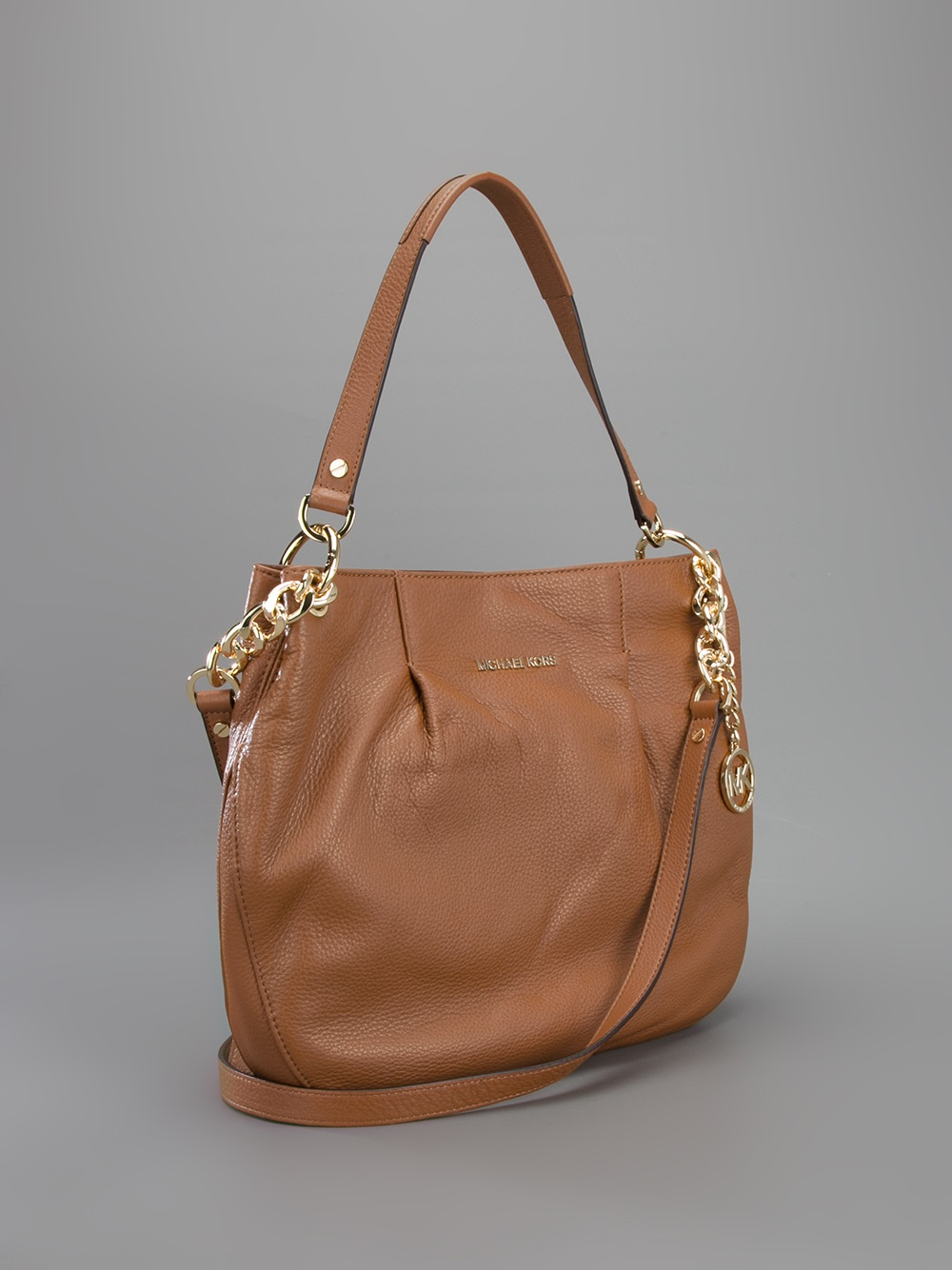 michael michael kors bedford large shoulder bag in brown. Black Bedroom Furniture Sets. Home Design Ideas