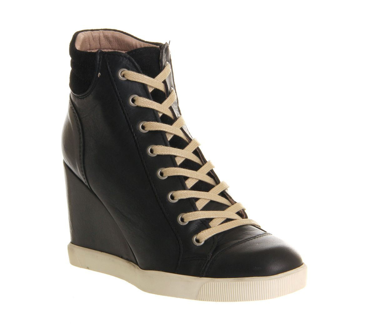 office baller wedge ankle boots in black lyst