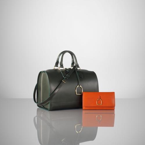Lyst - Ralph Lauren Vachetta Stirrup Boston Bag in Green 5458f5bc57e98