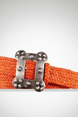 Ralph Lauren Raffia Square buckle Belt - Lyst