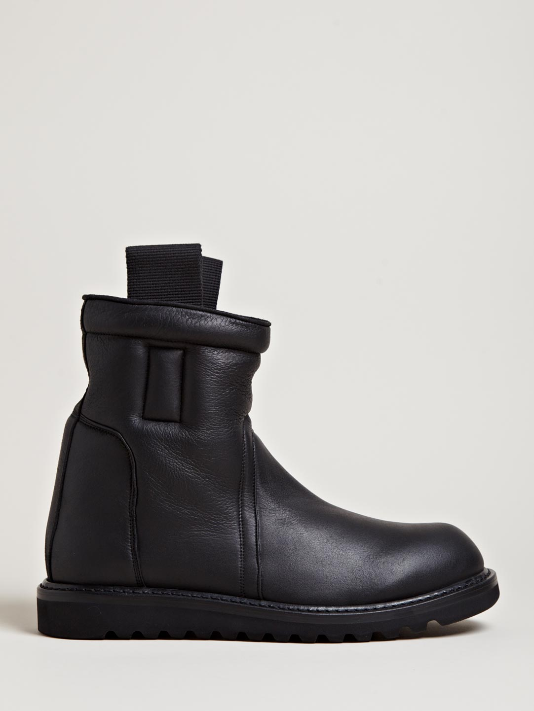 Rick Owens Mens Shearling Lined Boots In Black For Men Lyst