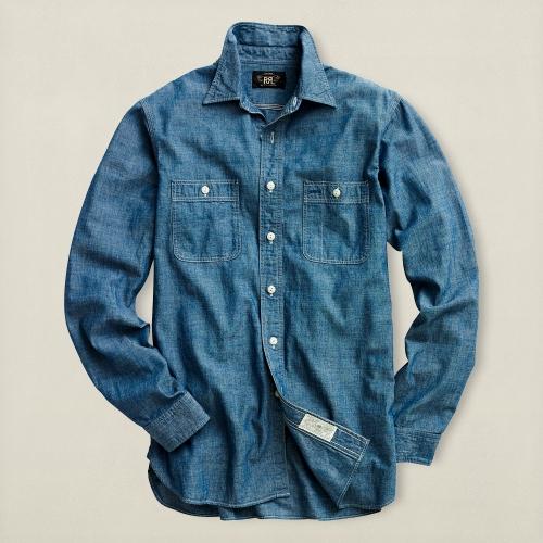 Lyst Rrl Chambray Workshirt In Blue For Men