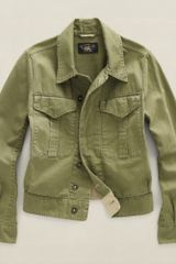Rrl Cropped Army Jacket - Lyst