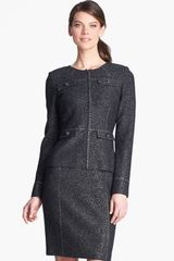 St. John Collection Sequin Embellished Shimmer Tweed Jacket - Lyst