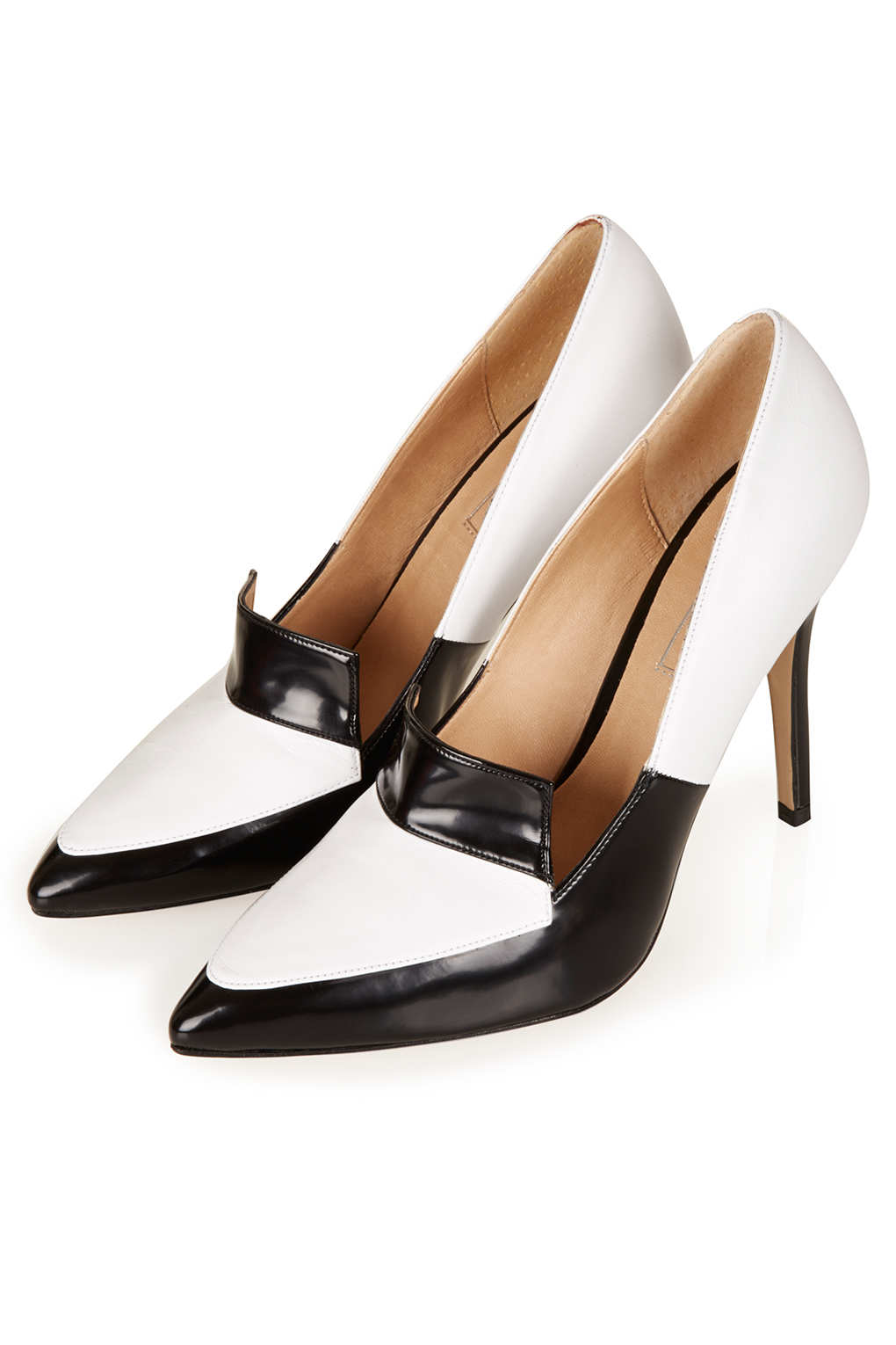 Lyst Topshop Gesture Panelled Hi Court Shoes In White