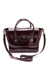 Versace Leather Satchel - Lyst