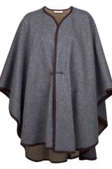 Yves Saint Laurent Vintage S Wool Cape - Lyst