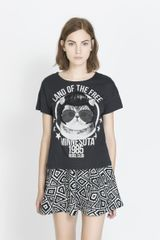 Zara Animals T-shirt - Lyst