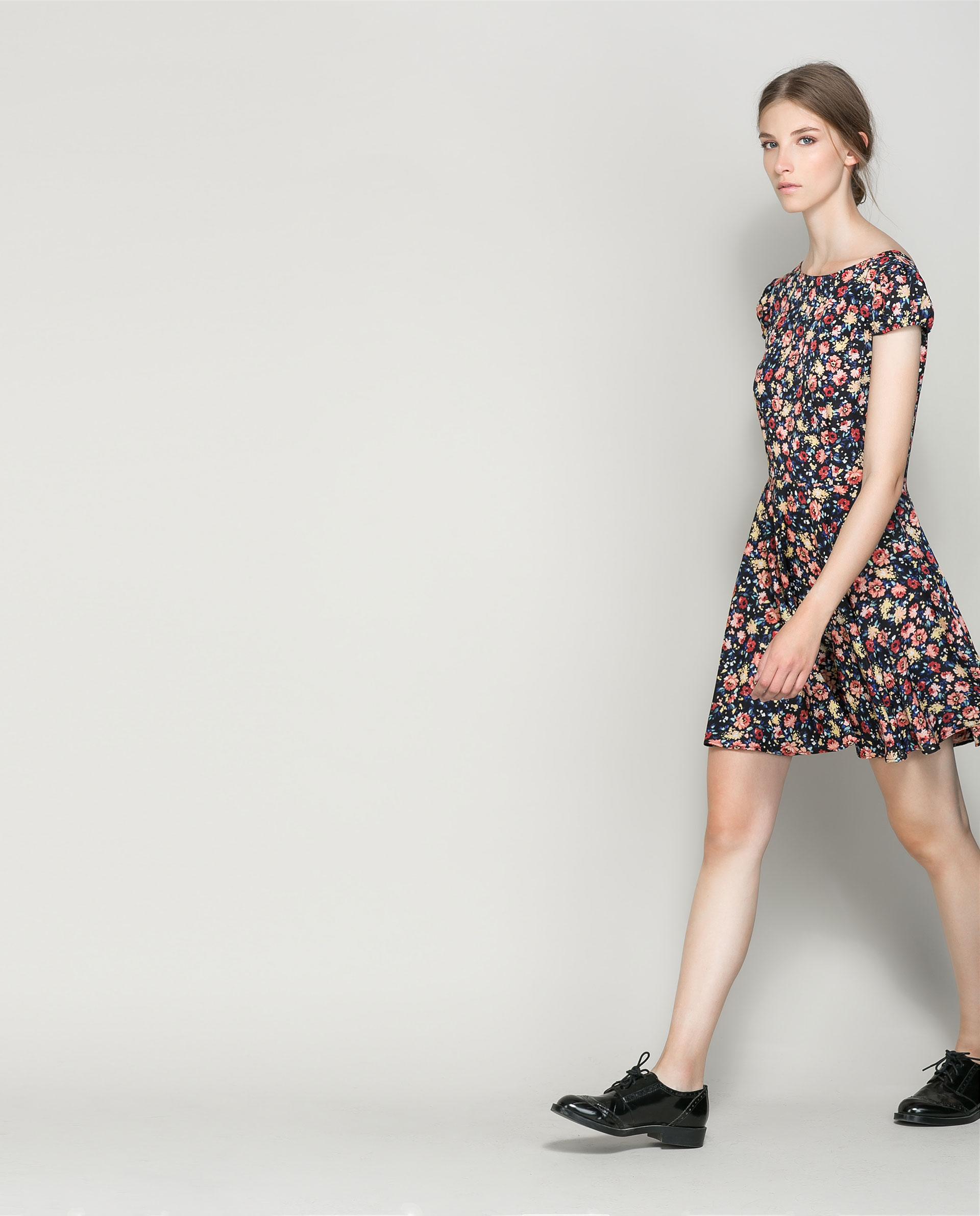 zara floral sheath dress