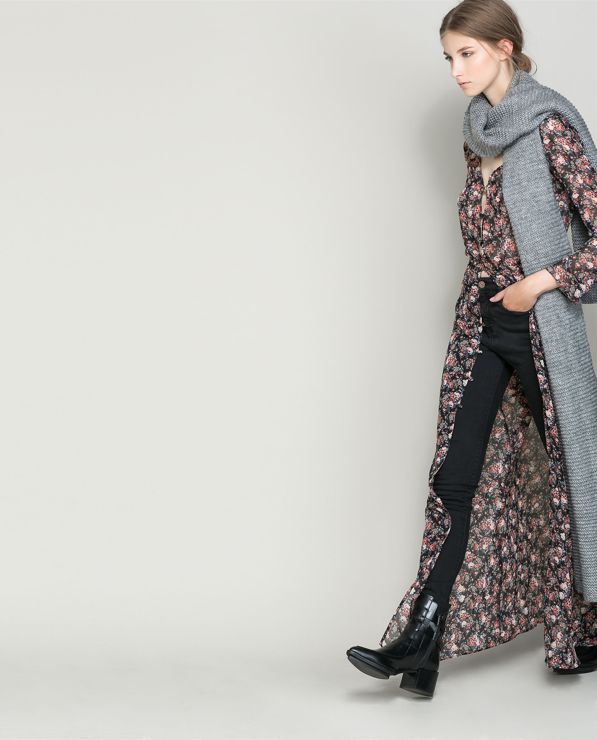 f77db60672 Zara Long Sleeve Printed Maxi Dress   Lixnet AG