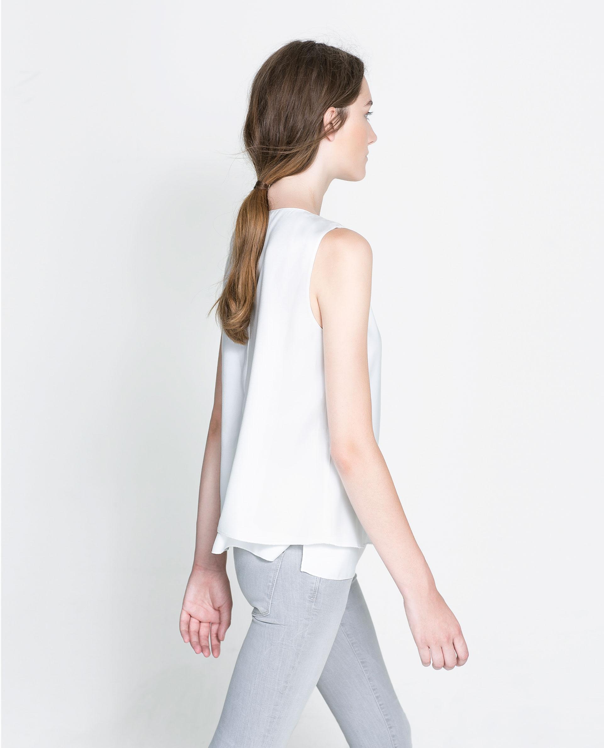Zara Sleeveless Blouse 111