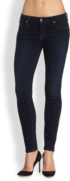 7 For All Mankind Illusion Skinny Jeans - Lyst