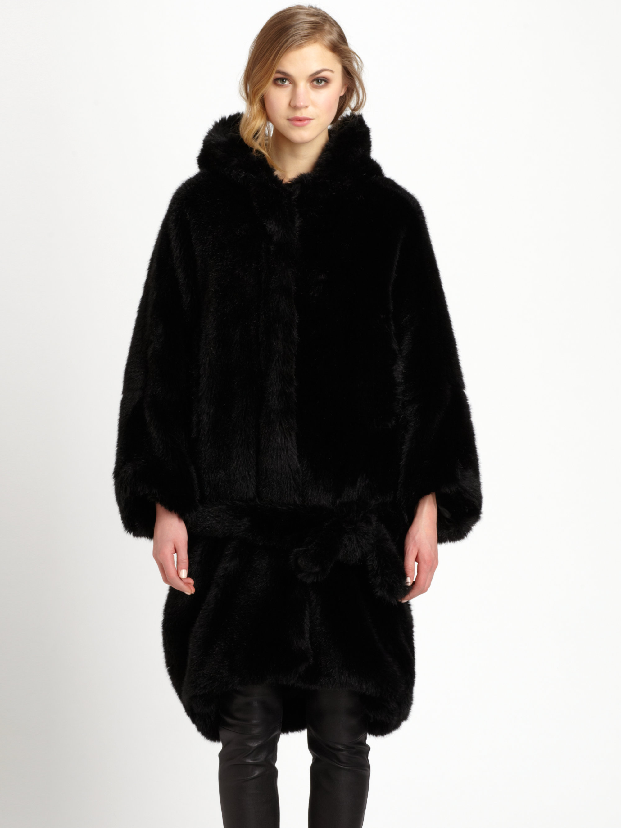 Free shipping BOTH ways on coat with fur hood black, from our vast selection of styles. Fast delivery, and 24/7/ real-person service with a smile. Click or call